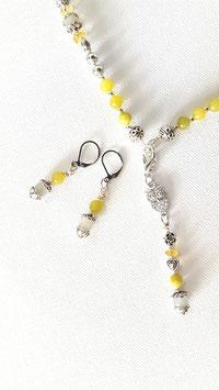 Edelstein Ohrringe mit Peridot und Mondstein (klein)