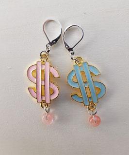 Dollar-Zeichen Ohrringe