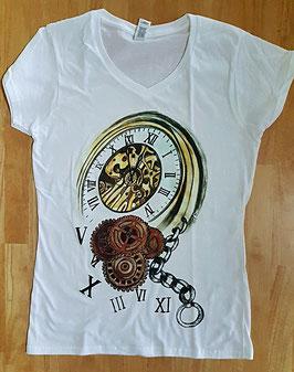 T-Shirt Uhr (Foto Transfer Textildruck)