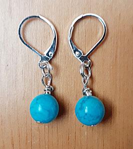 Edelstein Ohrringe mit Türkis (klein)