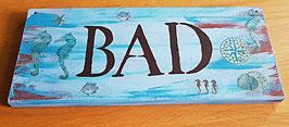 Bad Holzschild