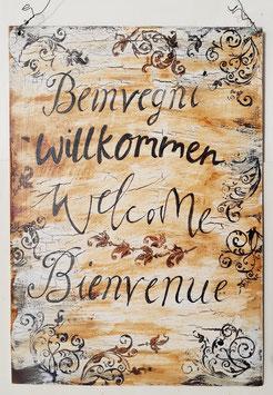 Beinvegni Willkommen Welcome Bienvenue