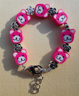 Armband Teddy pink