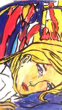 Frau in Tränen
