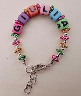 Armband mit Namen Mädchen (Variante 1)