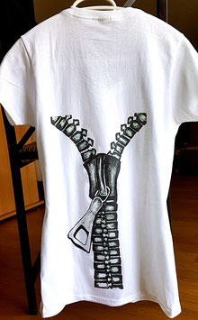T-Shirt Reissverschluss (Foto Transfer Textildruck)