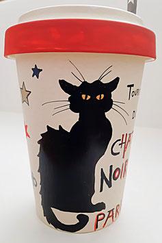 """Bambus Becher """"Chat Noir 1"""", 500 ml"""