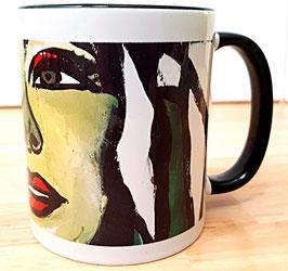 Tasse Gesicht Frau