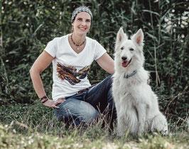 T-Shirt Wölfe (Foto Transfer Textildruck)
