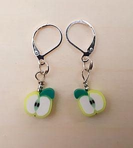 Ohrringe Apfel grün