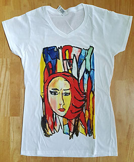 T-Shirt Frau rot (Foto Transfer Textildruck)