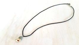 Leder Halskette mit Grandel 1