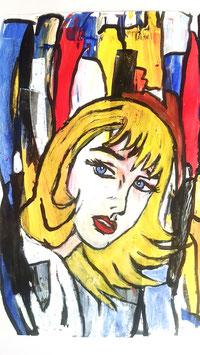 Frau blond