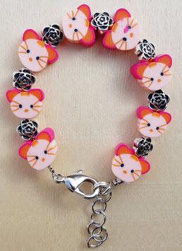 Armband Kätzchen rosa