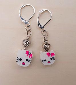 Ohrringe Kitty mit Herz