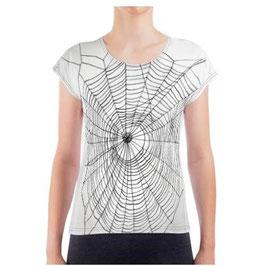 T-Shirt Spinnennetz (Slouchy Damen T-Shirt) (Digitaldruck)