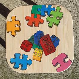 """Kinderhocker """"Lego und Puzzle"""""""