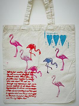 Baumwolltasche Flamingos