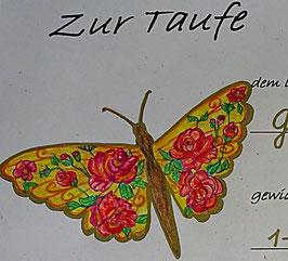 Taufurkunde Schmetterlinge