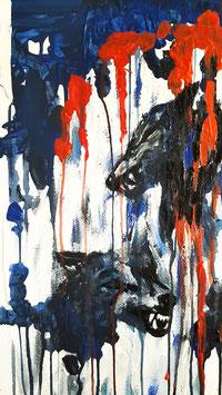 Wölfe abstrakt