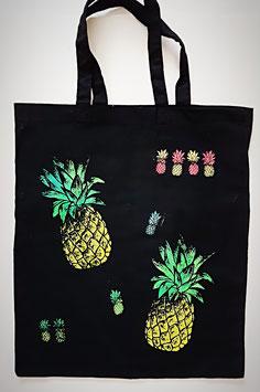 Baumwolltasche Ananas und Eule