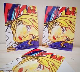 Karten Frau in Tränen