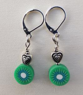 Ohrringe Kiwi mit Herz