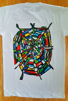 T-Shirt Spinnennetz (Foto Transfer Textildruck)