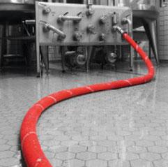 1 m Bierschlauch DN25, Milchrohrgewinde