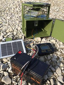 Futterkanone mit Solar