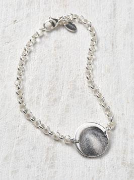 Silberarmband mit einem integrierten personalisierten-Charm in Feinsilber