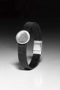 Wickelarmband aus Kork mit Fingerprint-Nugget