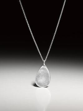 -NEU- Silberkette mit einem personalisierten Kettenanhänger in Tropfenform, groß