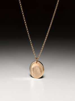 Rosévergoldete Silberkette mit einem kleinen rosévergoldeten Fingerprintmedaillon
