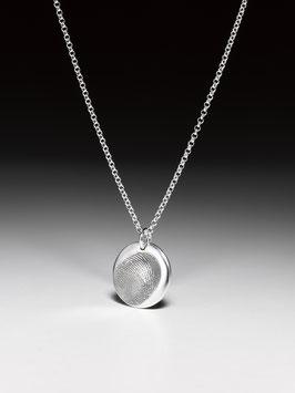 -NEU- Silberkette mit einem kleinen personalisierten Medaillon