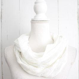 Weißes Loop-Tuch