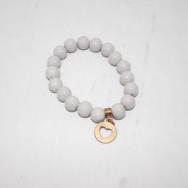 Armband mit grauen Perlen