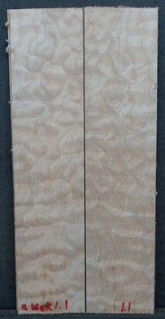 Kopfplattenpaar Quilted Maple B-Ware