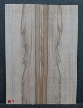 Kopfplattenpaar Satinnußbaum