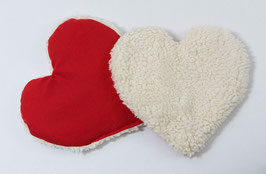 Plüsch-Wärmekissen Herz