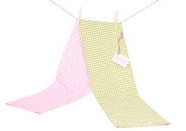 Schöner Schlal für Mädchen Sterne Rosa/Vichy Grün