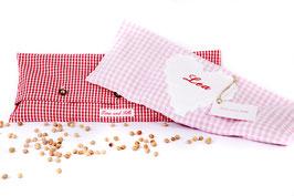 Wärmekissen mit Bio-Kirschkernen - Vichykaro Rosa