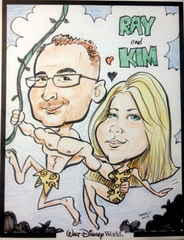 Two Person Caricature