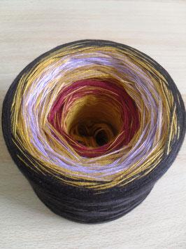 Gefachte Wolle, Farbverlaufswolle, Bobbel, 4-fädig