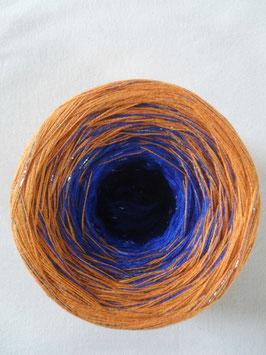 Gefachte Wolle, Farbverlaufswolle, Bobbel, 3-fädig