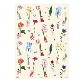 """Geschenkpapier """"Blumenfrauen"""""""