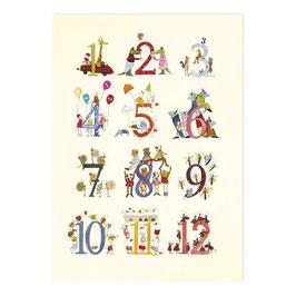 Geschenkpapier mit Zahlen