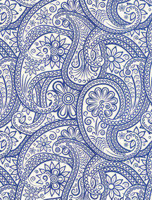 Paisley groß blau