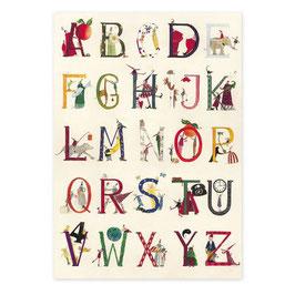 Geschenkpapier mit Alphabet