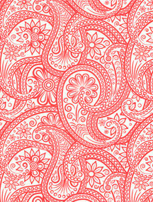 Paisley groß rot